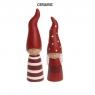 2 dänische Weihnachtskinder Silly Santas, H 15,1 u. 16,7 cm, Farbe: rot/weiß
