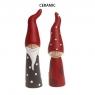 2 große, dänische Weihnachtswichtel Silly Santas, H 18 u. 20 cm, Farbe: rot/weiß