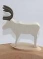 Steckfigur Rentier weiß für Holzkränze