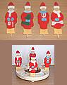 4er-Set Weihnachtsfiguren für Sebastian design Holzkränze- B-Qualität