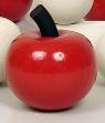 1 Holzstecker großer Apfel, rot lackiert, 6,5 cm