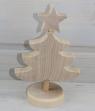 stehender, schwedischer Tannenbaum mit Stern natur, h 14 cm