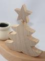 schwedischer Tannenbaum mit Stern natur für Holzkränze