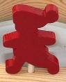 Schwedische Steckfigur laufendes Kind rot lackiert, 4 mm Holzdübel