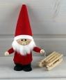 schwedischer Weihnachtsmann mit Schlitten, h 14 cm, ohne Holzdübel