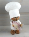 Chef de cuisine avec un poisson, 12,5 cm