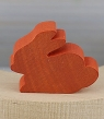 1 little Easter hare, dark orange