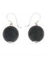 Aarikka KARPALO earrings black, Length 1,5 cm