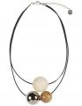 Aarikka TELLUS necklacenatural, light brown, silver, l 47 cm