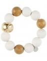 Aarikka METSÄ finnisches Armband weiß/buche/gold,  d 6,5 cm