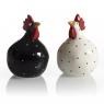 Nääsgränsgarden Salz & Pfeffer Hennen schwarz und weiß, H 8 cm