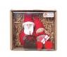 Geschenkset Weihnachtsmann und Tonttu Katriina mit Herz/Geschenk