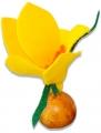 Felt Crocus yellow for candlerings, h 9 cm