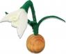 Filz Schneeglöckchen weiß für Holzkränze, H 9 cm