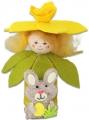 Blumenkind Narzisse gelb mit Filzhase, H 10 cm