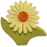 1 Nedholm Gerbera, gelb/orange, Blätter lime