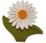 1 Nedholm Gerbera hellgrüne Blätter, weiß/orange