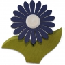 1 Nedholm Gerbera, dunkelblau/weiß/hellgrün, EINZELSTÜCK
