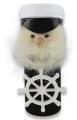 Kapitän schwarz mit Steuerrad, H ca. 10 cm