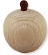 1 Apfel, natur für Kränze, Stiel dunkelbraun, h 5 cm