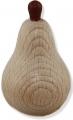 1 Birne, natur für Kränze, Stiel dunkelbraun, h 5 cm