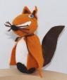 1 wooden Fox orange for candlerings, 6 mm wood plug