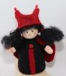 Marienkäfer Mädchen rot/schwarz, H 9 cm für Holzkränze