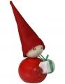 Aarikka LAHJA avec du cadeau, h  9 cm, rouge