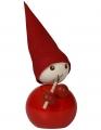 Großer Aarikka HUILISTI Tonttu mit Flöte, Weihnachtsmann, Höhe 18 cm