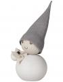 Aarikka JOULUTORTTU Pakkanen blance avec du gateau de Noel, h 11 cm