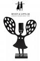 Bengt & Lotta ANGEL candleholder, black, 17 x 21 cm