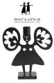 Bengt & Lotta FLOWER ANGEL Kerzenhalter, schwarz, 17,5  x 18 cm
