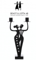 Bengt & Lotta DANCE Kerzenhalter, schwarz, 29,5 x 16 cm