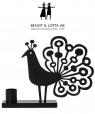Bengt & Lotta PEACOCK Serviettenhalter, schwarz, 15 x13,5 cm