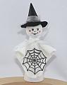 Halloween - großes Gespenst mit Spinnennetz für Holzkränze