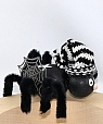 Halloween - spider black for candlerings, l 9 cm