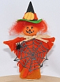 flower pumpkin ghost orange/green, H 10 cm
