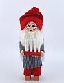 Großer, schwedischer Santa Weihnachtsmann mit Adventsleuchter, 16 cm
