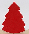Swedish fir tree red for candlerings, h 9 cm