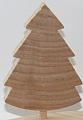 Swedish fir tree natural for candlerings, h 9 cm