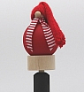 Swedish Tomte for kitchen paperrole holder red, with a long wood plug