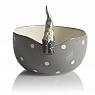 Nääsgränsgården bowl Santa Fritte, grey, ø 16 cm