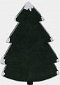 schwedischer Tannenbaum mit Schnee, dunkelgrün, H 9 cm