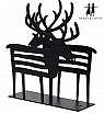 Bengt & Lotta REINDEER napkin holder, black, 12 x13,5 cm