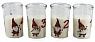 Det Gamle Apotek Danish advent candles in glass Tiny Santa 1-4, white, H 10 cm, 4 pcs