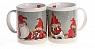 Det Gamle Apotek, 2 Danish mugs Nils Family, in a red present box, h 8,5 cm, grey