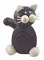 1 chat noir pour des couronne de bois