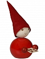 Aarikka Pipari with gingerbread, red, h 18 cm, table decoration