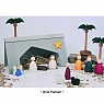 Swedish Nativity set with 11 figures