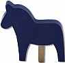 Sebastian design large horse, blue for candlerings